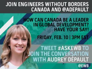 Twitter Q&A with Audrey Dépault on Feb. 10 at 3PM EST!